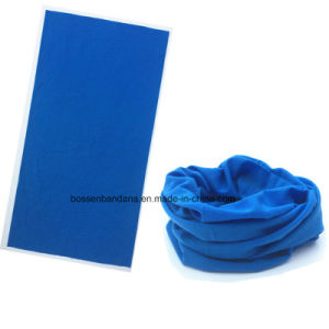OEM Produce Customized One Color Dyed Blue Multifunctional Magic Scarf pictures & photos