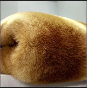 Luxury Gold Fox Faux Fur pictures & photos