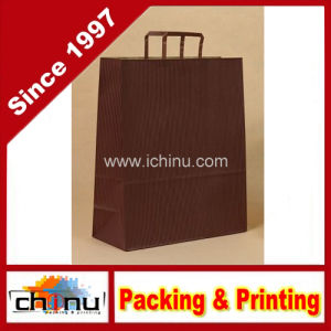 X-Large (12 X 16 X 5) Red Pinstripe English Handle Kraft Gift Bags (2131) pictures & photos