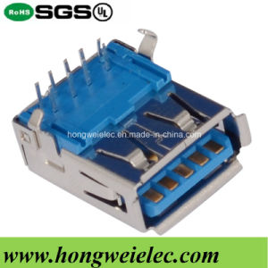 Female a Type 90degree DIP 9pin USB 3.0 Connector pictures & photos