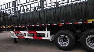 Durable Tri-Axle Fence Semi Trailer with Fuwa Axle for Africa pictures & photos