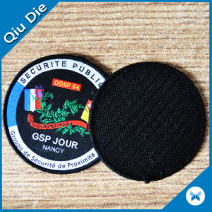 Round Woven Badges Custom Velcro Back pictures & photos