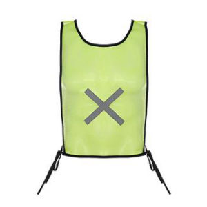 Simple Mesh Fabric Safety Vest with Reflective Tape pictures & photos