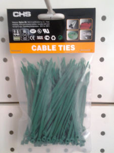 Self-Locking Nylon Cable Ties Green Color pictures & photos