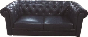 Chesterfield London English 2.5 Seater Antique Oxblood Leather Sofa Settee with Scroll Fronted Arms pictures & photos