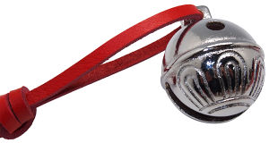 Christmas Bell in Silver Polish with Real Leather Attached pictures & photos