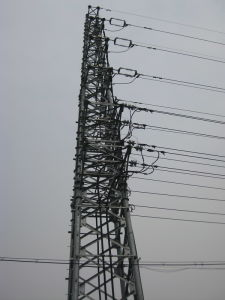 Transmission Line Tubular Steel Tower