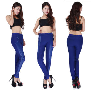 Women PU Leather Low Waist Skinny Pencil Trousers Slim Lady Casual Tight Pants