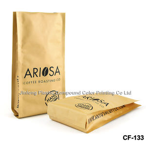 Plastic Coffee Packaging Bag with Bottom Gusset pictures & photos