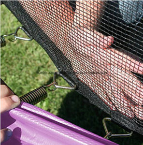 10FT Purple Ground Trampoline with 4 Legs and Safety Enclosure Net pictures & photos