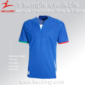 Healong Sportswear Wholesale Men Football Shirt with High Quality pictures & photos