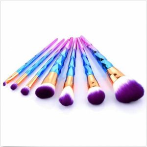 7PCS Colorful Rainbow Eyeshadow Lip Brush PRO Makeup Cosmetic Brush Set Tool pictures & photos