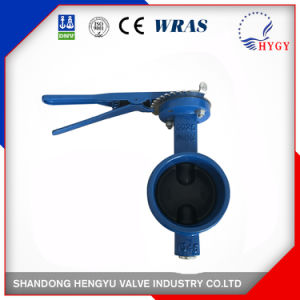 Grooved End Type Butterfly Valve with Mellable Iron Handle with Blue Color pictures & photos