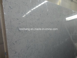Bianco Carrara Engineered Artificial Marble for Tile Slab pictures & photos