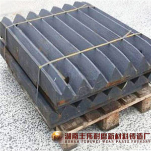 Jaw Crusher Parts Casting Steel Jaw Plate