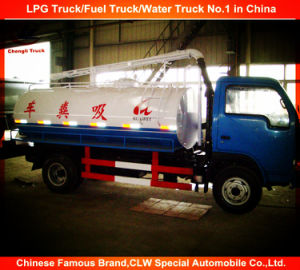 6 Wheels Dongfeng vacuum Cleaning Sewage Fecal Suction Truck pictures & photos