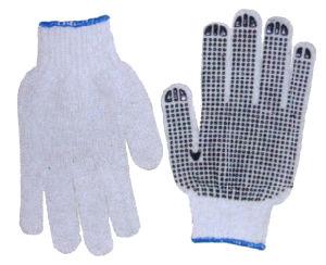 Cotton Gloves Wth PVC Dots Td45 pictures & photos