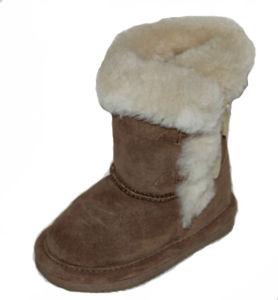 2016 Hot Sale Sheepskin Snow Boots for Girl (RW80275WCHESTNUT)