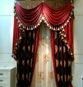 Chenille Jacquard Curtain Window (KS-157) pictures & photos