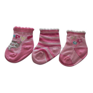 Plain Baby Cotton Socks with Picot Welt (BS-4)