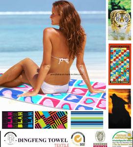 100% Cotton Promotional Reactive Velour Printed Bath Towel pictures & photos