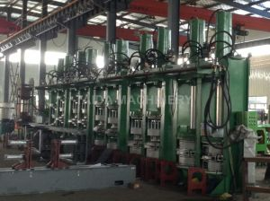Omron PLC Rubber Solid Tire Vulcanizing Press Machine Vulcanizer pictures & photos