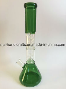 16inch Glass Water Pipes Smoking Pipe with Double Swirl Percs pictures & photos