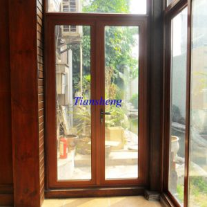 Aluminium Wood Casement Door pictures & photos