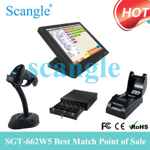 Scangle 15 All in One POS System Cash Register Thermal Printer pictures & photos