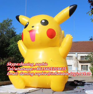 6m Inflatable PVC Pikachu Mascot for Outdoors Promotion