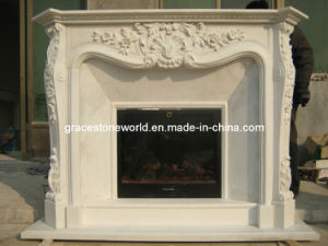 Carved Mantel, Carving Stone Fireplace pictures & photos