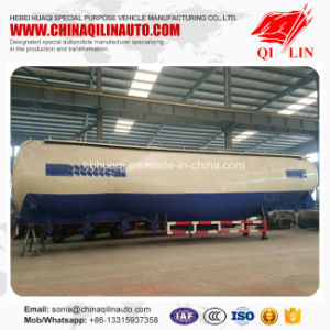Qilin Factory Price 65cbm Stainless Steel Bulk Cement Powder Tanker Semi Trailer pictures & photos