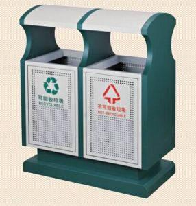 Outdoor Steel Rubbish Barrel/ Outdoor Dustbin (GPX-154A) pictures & photos