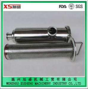 "2"" 304 Stainless Steel Sanitary Juice Clamped Angle Type Strainer pictures & photos"