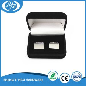 Fashion Design Soft Enamel Cufflinks with Velvet Box pictures & photos