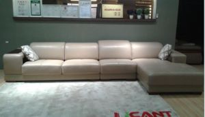 Low Back Living Room Furniture Leather Sofa (N850) pictures & photos