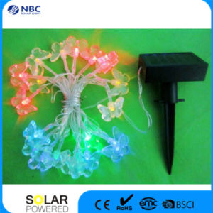 Plastic Part Solar String Light with 10PCS Multi Color LED, Color: Green, Blue, Red pictures & photos