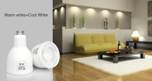 5W GU10 Dual White LED Spotlight pictures & photos