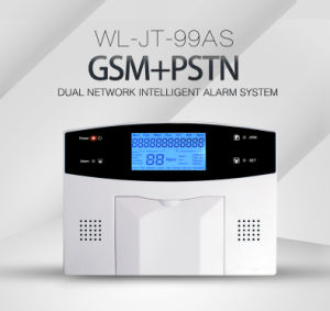 Wireless GSM/PSTN Dual Network Intelligent Alarm System with LCD Display pictures & photos