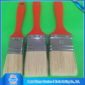 Wholesale Synthetic Paint Brush with Red Plastic Handle pictures & photos