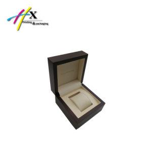 Matte Finish Dark Brown Single Wooden Watch Box Men′s Watch Box pictures & photos