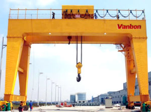 (MH) 20t Double Rail Traveling Gantry Crane pictures & photos