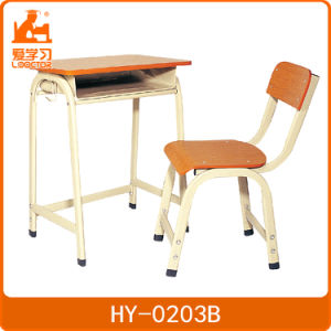 Plywood Single Desk and Chair for Primary School Classroom pictures & photos