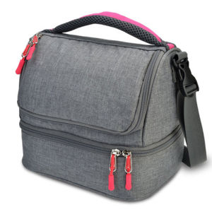 Two Compartments Insulated Keep Fresh Warm Cooler Lunch Bag pictures & photos
