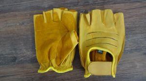 Cow Leather Glove-Half Finger Glove-Sport Glove-Working Glove-Safety Gloves pictures & photos