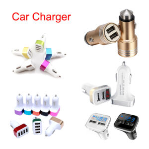 High-End 1A 2A 3.1A Dual 3 4 5 Ports USB Smart Car Charger Adapter for iPhone Samsung Mobile Phone Tablet PC Car-Mounted Charger pictures & photos