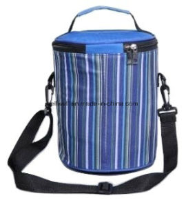 Stripes Print Bucket Cooler Bag Drums Food Insulated Bag pictures & photos