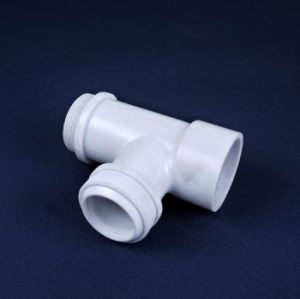 PVC Plastic Injection Mould Three Way Pipe Tee pictures & photos