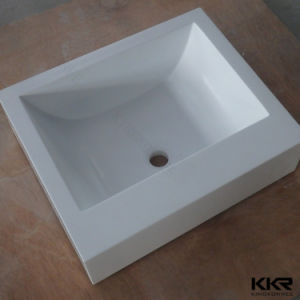 Artificial Stone Solid Surface Wall Hung Bathroom Sink pictures & photos