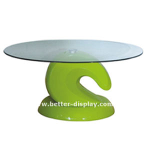 Acrylic White High Gloss Coffee Table (BTR-Q1023) pictures & photos